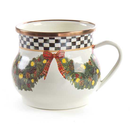 Mackenzie Childs Evergreen Enamel Mug