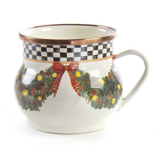 Mackenzie Childs Evergreen Enamel Mug