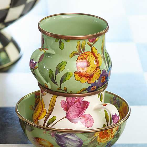 Flower Market Mug - Green