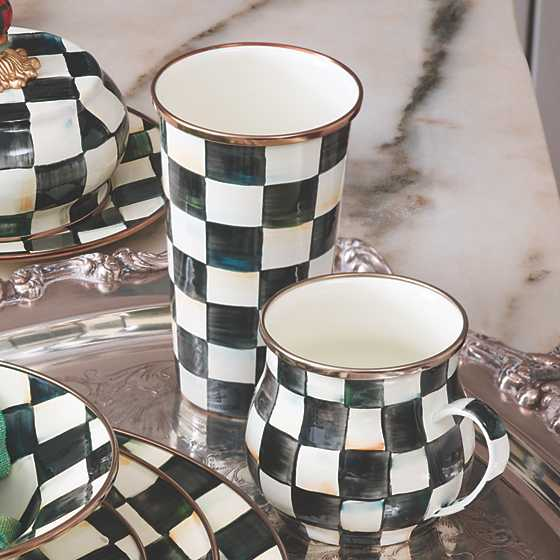 Courtly Check Enamel Mug