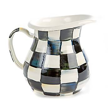 Courtly Check Enamel Creamer/Small Pitcher