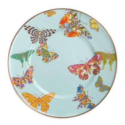 Butterfly Garden Salad/Dessert Plate - Sky