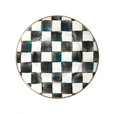 Courtly Check Enamel Salad/Dessert Plate