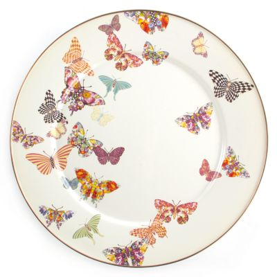 Butterfly Garden Serving Platter - White