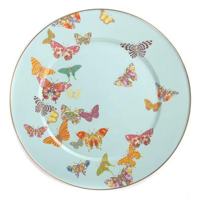 Butterfly Garden Serving Platter - Sky