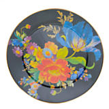 Flower Market Enamel Serving Platter - Black