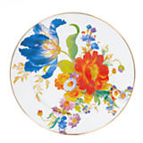 Flower Market Enamel Serving Platter - White