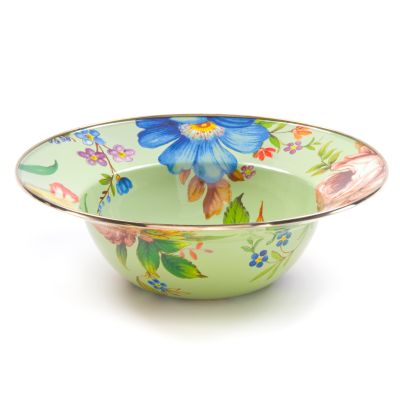 Flower Market Serving Bowl - Green