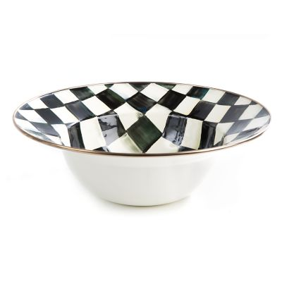 MacKenzie-Childs - Courtly Check Enamel Serving Bowl