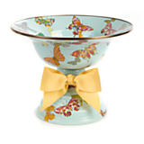 Butterfly Garden Large Compote - Sky