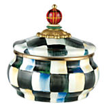 Courtly Check Enamel Squashed Pot Canister