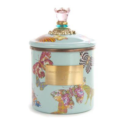 Butterfly Garden Small Canister - Sky