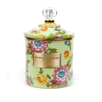Flower Market Small Canister - Green