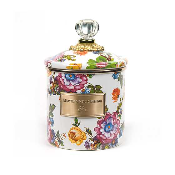 Flower Market Small Canister - White