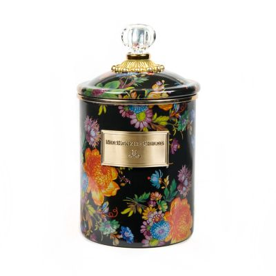Flower Market Medium Canister - Black