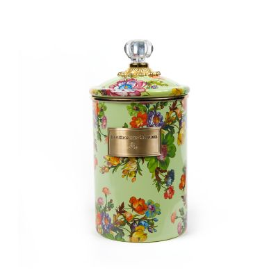 Flower Market Large Canister - Green