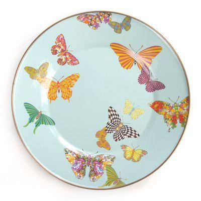 Butterfly Garden Dinner Plate - Sky