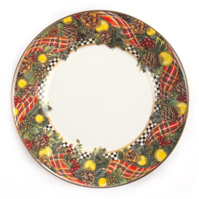 Evergreen Enamel Dinner Plate