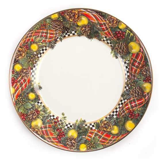 Mackenzie Childs Evergreen Enamel Dinner Plate