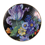 Flower Market Enamel Dinner Plate - Black
