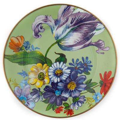 Flower Market Dinner Plate - Green