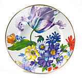 Flower Market Enamel Dinner Plate - White
