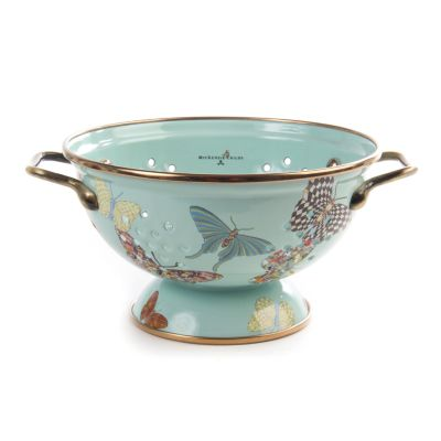 Butterfly Garden Small Colander - Sky