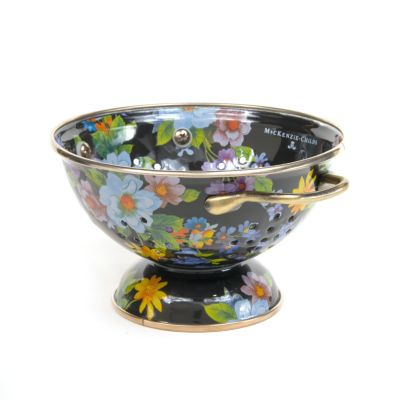 Flower Market Small Colander - Black