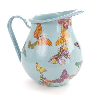 Butterfly Garden Pitcher - Sky