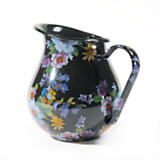 Flower Market Enamel Pitcher - Black