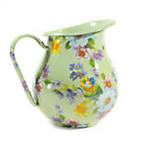 Flower Market Enamel Pitcher - Green