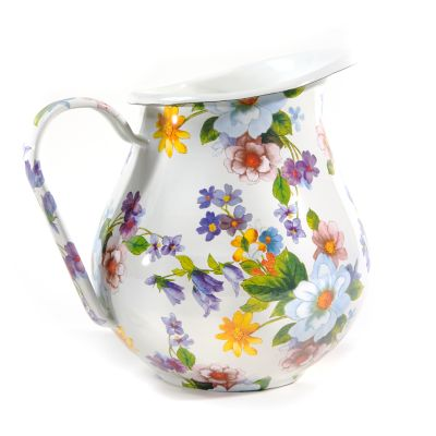 Flower Market Pitcher - White