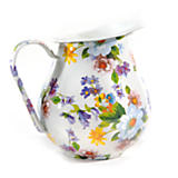 Flower Market Enamel Pitcher - White