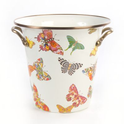 Butterfly Garden Wine Cooler - White