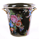 Flower Market Enamel Wine Cooler - Black