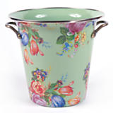 Flower Market Enamel Wine Cooler - Green