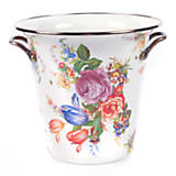 Flower Market Enamel Wine Cooler - White