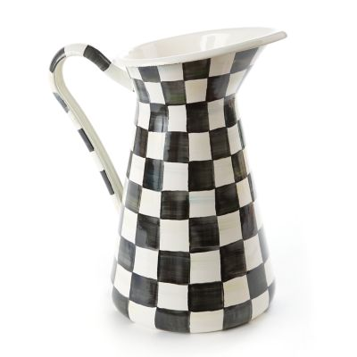 Courtly Check Enamel Practical Pitcher