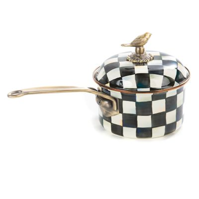 Courtly Check Enamel 2.5 Qt. Saucepan