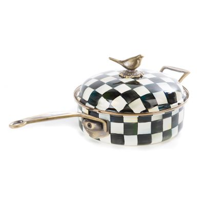 Courtly Check Enamel 3 Qt. Saute Pan