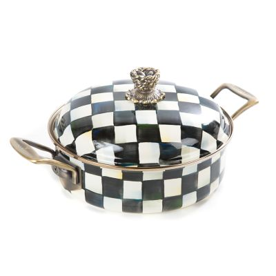 Courtly Check Enamel 3 Qt. Casserole
