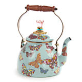Butterfly Garden 2 Quart Tea Kettle - Sky