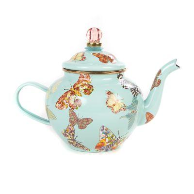 Butterfly Garden 4 Cup Teapot - Sky