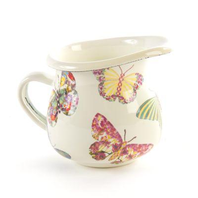 Butterfly Garden Little Creamer - White