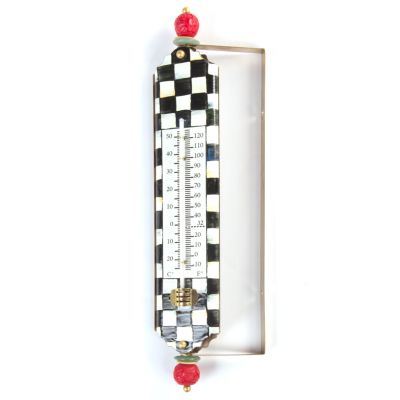 Courtly Check Enamel Thermometer