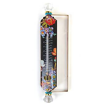 Flower Market Enamel Thermometer - Black