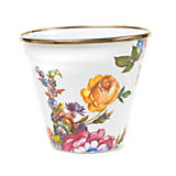 Flower Market Enamel Pot - White