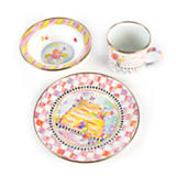 Enamel Child's Dinner Set - Bee