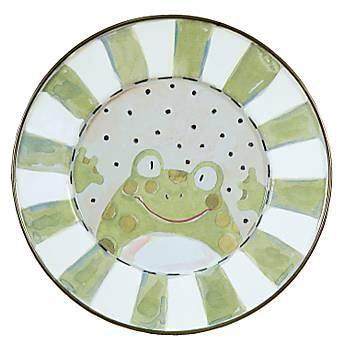 Enamel Child's Plate - Frog