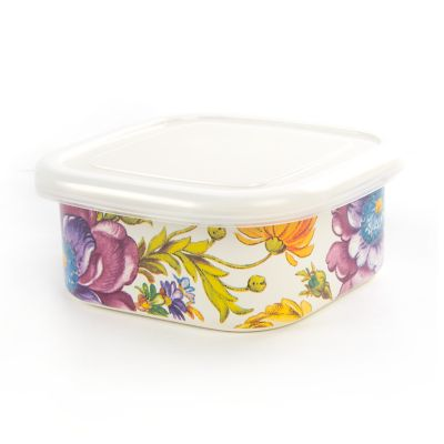 Flower Market Small Squarage Bowl - White